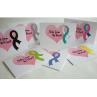 Cancer Awareness Ribbon Note Cards